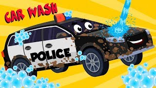 Police Car Videos For Toddlers | Vehicle Car Wash | Car Cartoons For Babies by Kids Channel