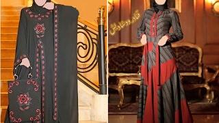 اجمل موديلات عبايات سوداء وعبايات تركي كاجوال للمحجبات 🌷2017 abaya fashion
