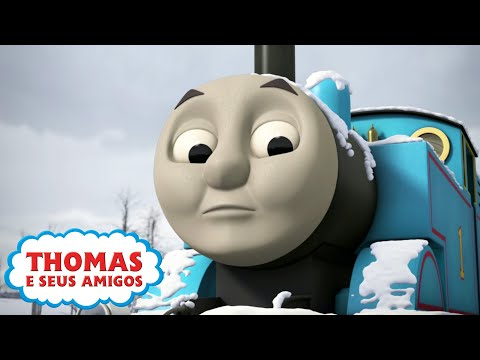 Thomas e seus Amigos Thomas fica preso na Neve