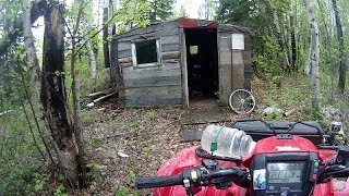 ATV Trail Riding in Sask - Bridges, Beavers & Cabin Leavers - Part 2 (Honda-Foreman-Rancher-Rollei)