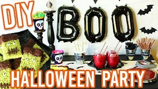 DIY HALLOWEEN PARTY! Treats, Decorations, and MORE!