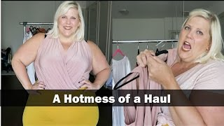 A Hotmess of a Plus Size Fall Haul with Try On: Boohoo, Asos, JustFab + Target