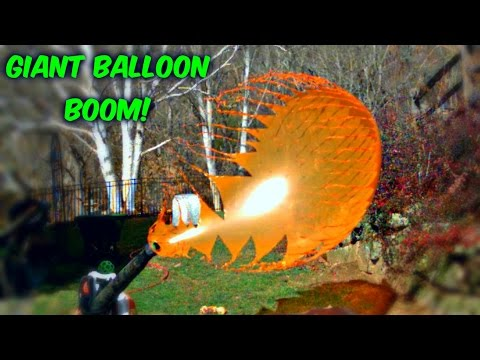 watch Giant Balloons Pop in Slow Motion