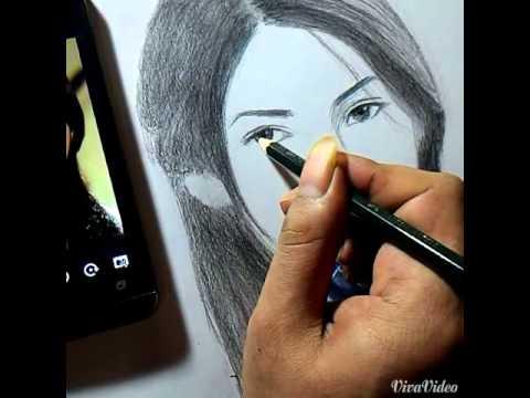 Cara Melukis Sket Wajah Wanita dgn Pensil