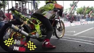 DRAG BIKE alvan cebonk best time FFA 06.921 Kawasaki Ninja KOLOR IJO  AHRS Championship Drag bike