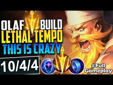 LETHAL TEMPO OLAF BUILD   THIS DAMAGE IS CRAZY   Olaf vs Viktor MID LANE PBE SEASON 8 Full Gameplay