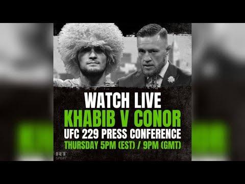 Xxx Mp4 Conor McGregor Vs Khabib Nurmagomedov Press Conference Ahead Of UFC Title Fight 3gp Sex