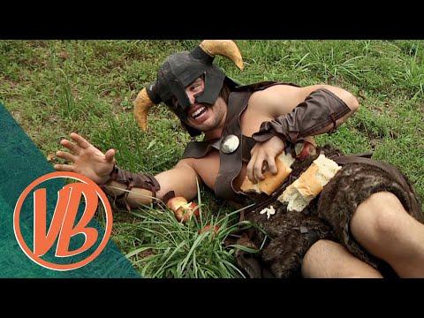 Skyrim IRL Dovahkiin vs. the Bandit Marauder VideoBakery