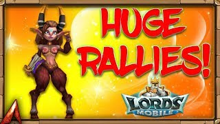 Lords Mobile: Huge Rallies on Near 500M Might Player!