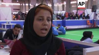 Female fans flock to football robot cup in Iran