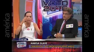 Juan Sheput en candente debate con Marisa Glave Voto 2016 América TV