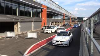 2014 BIMMERPOST M3 / M4 European Delivery Group Parade at Spa Francorschamps