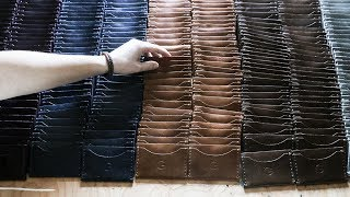 Making 500 Leather Wallets By Hand