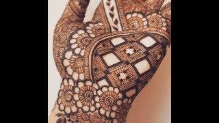 New Grid Palm Henna Design