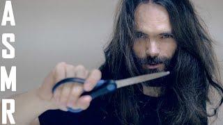 ASMR Hair and beard Roleplay (brushes, scissors, hair, beard sounds)