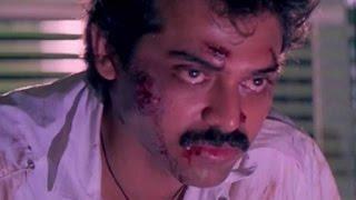 Police Arresting Venkatesh Scene || Shatruvu Telugu Movie || Venkatesh, Vijayashanti