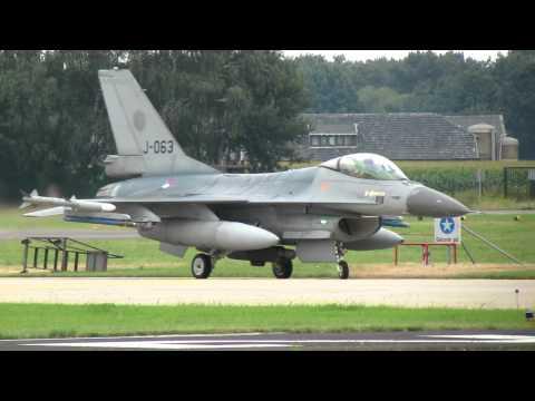 F16, J-063, Dutch AF, Nice Departure vliegveld Volkel