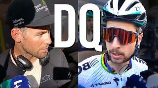 Sagan and Cavendish react after Tour de France stage 4 crash
