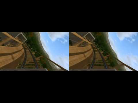3D Wood RollerCoaster Sierra Express 3d SBS 3D 5D 6D 7D 9D CINEMA YouTube