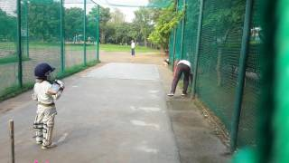 4 year old wonder boy playing a cricket..its miracle boy