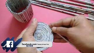 Newspaper Craft DIY | Newspaper Flower Vase/pen stand | Best out of Waste