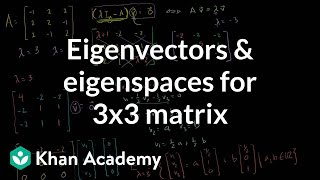 Eigenvectors and eigenspaces for a 3x3 matrix | Linear Algebra | Khan Academy