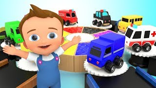 Learning Street Vehicles Names for Children with Color Water Kids Toys Toddler Educational Video