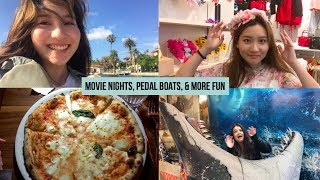 Summer Adventures🍕 Vlog: Pedal Boats, Drive-in Movie Theater, Carbon Coco teeth whitening