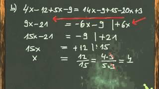 Terme und Gleichungen lösen -  Mit Beispielaufgaben