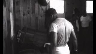 Sugar Ray Robinson boxing a speedball