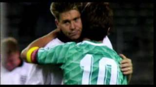 Lothar Matthäus consoles Chris Waddle after 1990 penalties