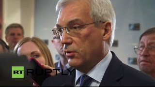 LIVE: Russian delegation speaks to press after NATO-Russia Council meeting