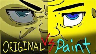 THE SPONGEBOB SQUAREPANTS ANIME OPENING 2  [HD]  -  PAINT VERSIONS VS ORIGINAL