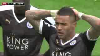 ARSENAL VS LEICESTER 2 1 FULL HIGHLIGHTS  ENGLISH COMMENTARY  14 02 2016 HD