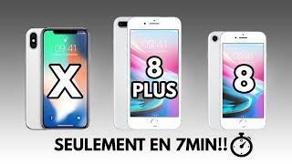 IPHONE X / 8 / 8 PLUS / SEULEMENT EN 7 MIN!!!