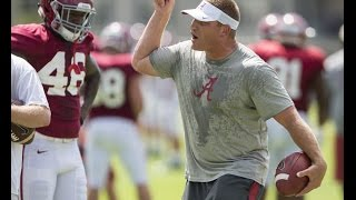 High-energy Alabama football coach in practice