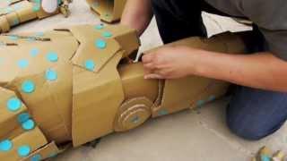 Making of IRON MAN w/ makedo & cardboard - 鋼鐵人 以美度扣&紙版製作