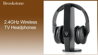 2.4GHz Wireless TV Headphones Complete How To Video