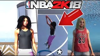 NBA 2K18 GIRL MYPLAYER !  NEW MyCREATION ! MyPARK ! COMING TO NBA2K18 !  CRAZY !  MyCAREER !