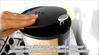 Macchinetta macchina elettrica per il caffè in bamboo Klarstein - Elektronik-Star 1080W