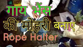 Cow mohri |Mohra kase banaye |Bhais |Rope halter मोहरी बनाए (animals mohri)