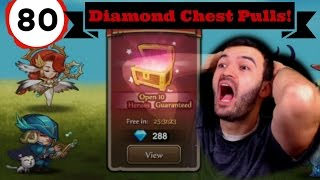 Soul Hunters - 80 Diamond Chest Openings | Worst F in Luck!