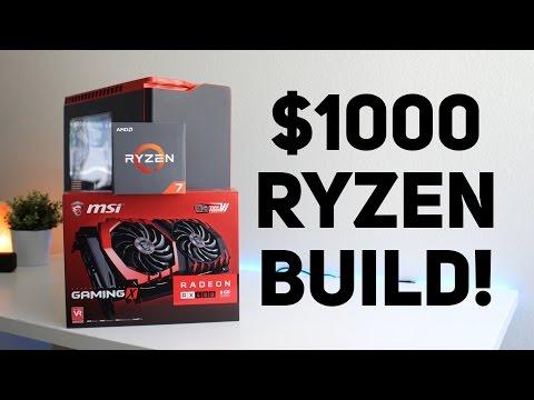 Best 1000 Ryzen PC Build 2017