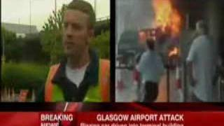 Worker hero on BBC News 24 after Glasgow Airport Attack