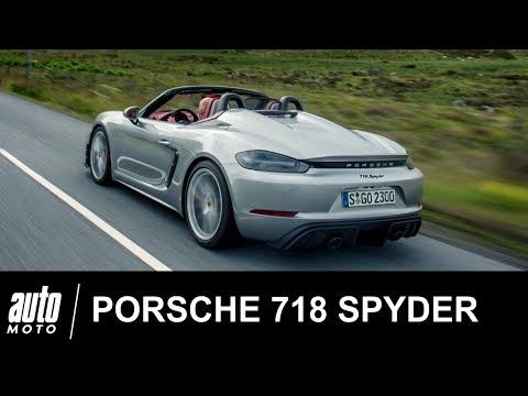2019 Porsche 718 Spyder 420 ch ESSAI POV Auto Moto