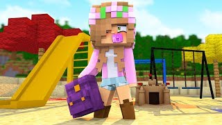 LITTLE KELLY JOINS KINDERGARTEN! Minecraft Baby School w/LittleLizard