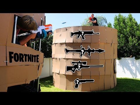 NERF Fortnite PORT A FORTRESS IRL 1 VS 1 MYSTERY WEAPONS