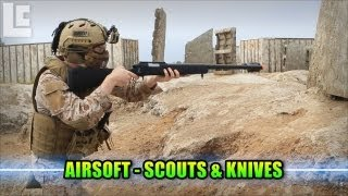 Airsoft Scouts And Knives with AirsoftGI (Airsoft SC Village Gameplay/Commentary)