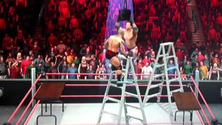 WWE Smackdown vs Raw 2011 Game Play - TLC Match (Tables, Ladders & Chairs)