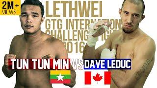Tun Tun Min vs Dave Leduc, GTG Myanmar Lethwei Fight 2016, Lekkha Moun, Burmese Boxing